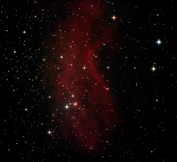 NGC7822; mag ?; size 90x20'; Canon 60Da; exp: 50-min (25x120s) @ISO3200; guided; Orion 10 @f/3.9; 9-13-12; Cherry Springs