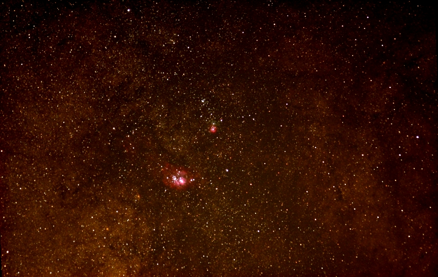 M20 area; ISO 3200; Sigma lens at 120 mm; 8 min (11x45sec); 8-24-05; Coyle