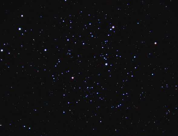 M35; Mag 5.6; Size 25'; exp 13-min (32x25s subs); LX200 @f/3.3; ISO 1600; 3-24-11; Coyle