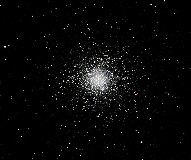 M13 Mag 5.8; size 20'; 4 min (8 x 30sec); LX200 10 @f/7.7; ISO 1600; 8-22-06; Cherry Springs
