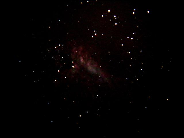 M17 mag 7.3; size 11'; 10 min exp;  ISO400; 06-20-04